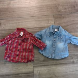 0-3 Month Button Up Shirts